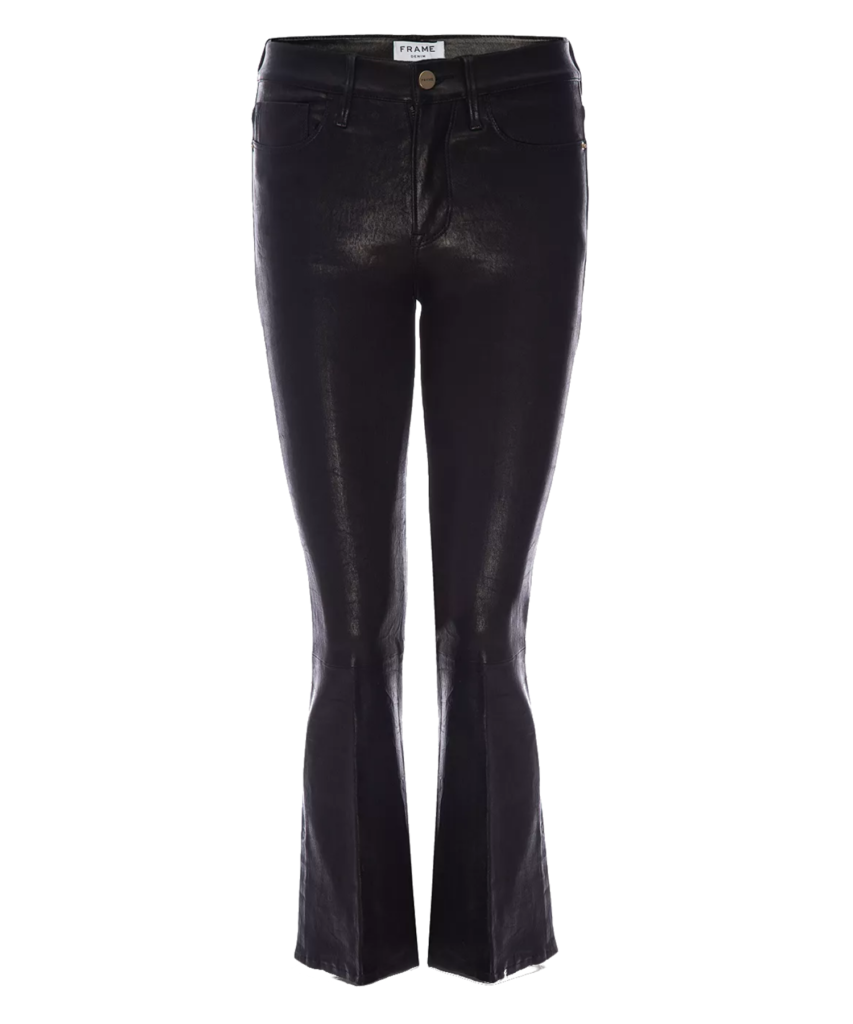 Le Crop Leather Mini Boot Washed Black Frame