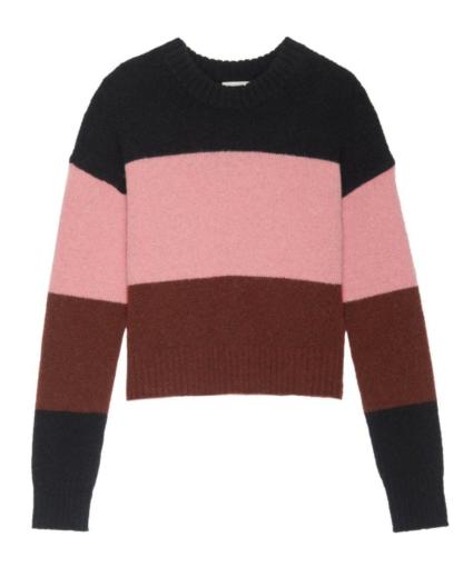Morrison Sweater Midnight Coral Pink Sumac A.L.C.
