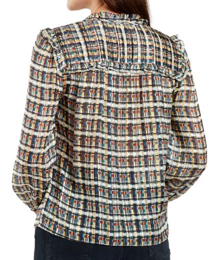 nellie blouse batik plaid back marie oliver