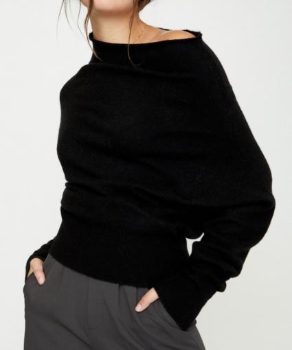 Lori Off Shoulder Black Onyx Brochu Walker