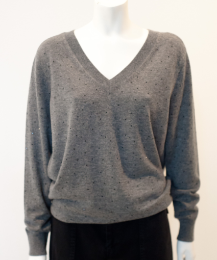 discoball sweater charcoal le superbe