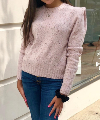 Square Pleat Shoulder Sweater Birthday Cake Autumn Cashmere