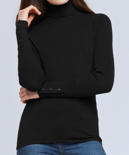 odette turtleneck sweater black l'agence