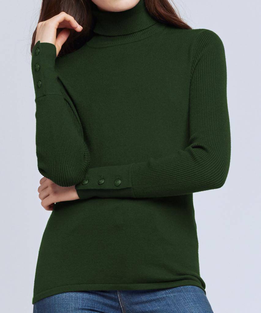 odette turtleneck sweater forest l'agence