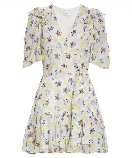 georgia dress Small Scale Poppy Neon Yellow tanya taylor