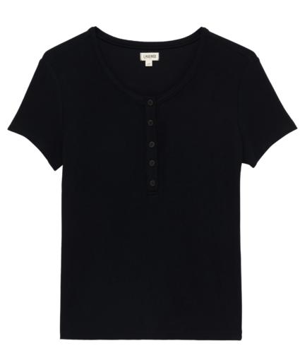 violet henley tee t-shirt black l'agence