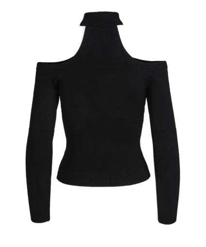 Lila Pullover Black Back Jonathan Simkhai