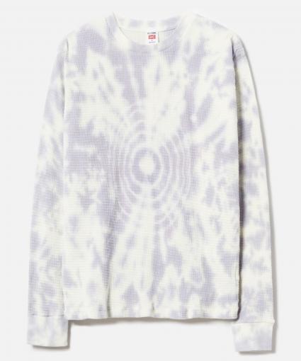 Thermal Long Sleeve Tee Lilac Drop Dye ReDone