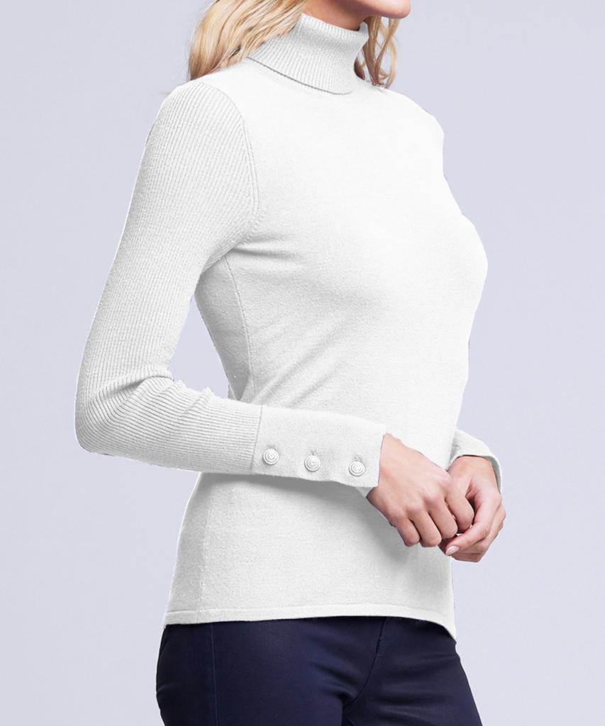 odette turtleneck sweater ivory l'agence