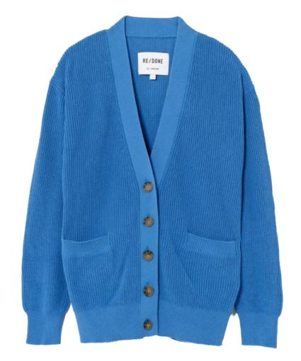 90s Oversized Cardigan French Blue ReDone
