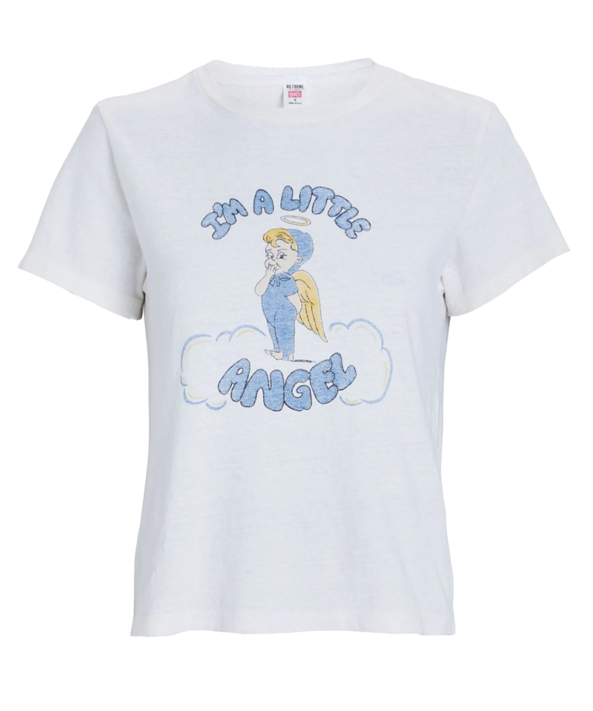 i'm a little angel classic tee t-shirt vintage white redone