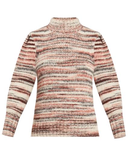 alston striped sweater pink multi veronica beard