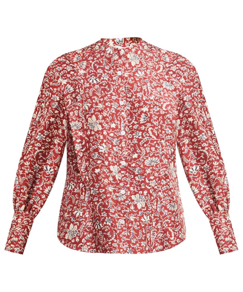drela blouse cranberry multi veronica beard