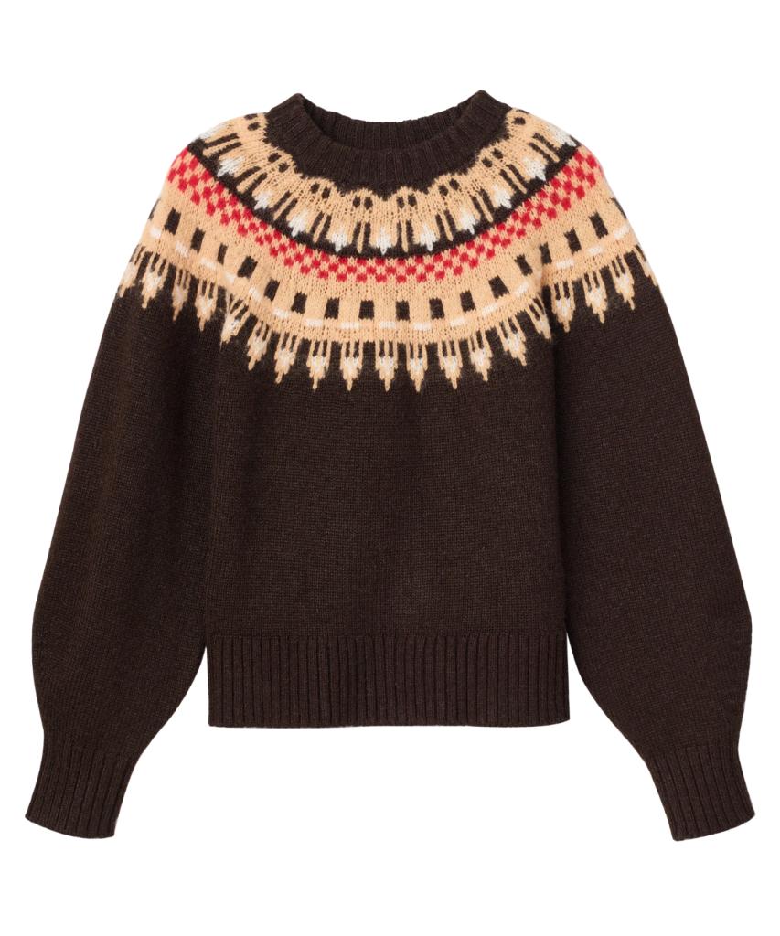 oakley fair isle sweater ebano multi alc