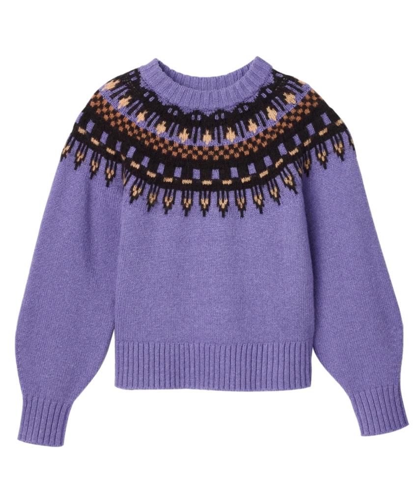 oakley fairisle sweater amethyst multi alc