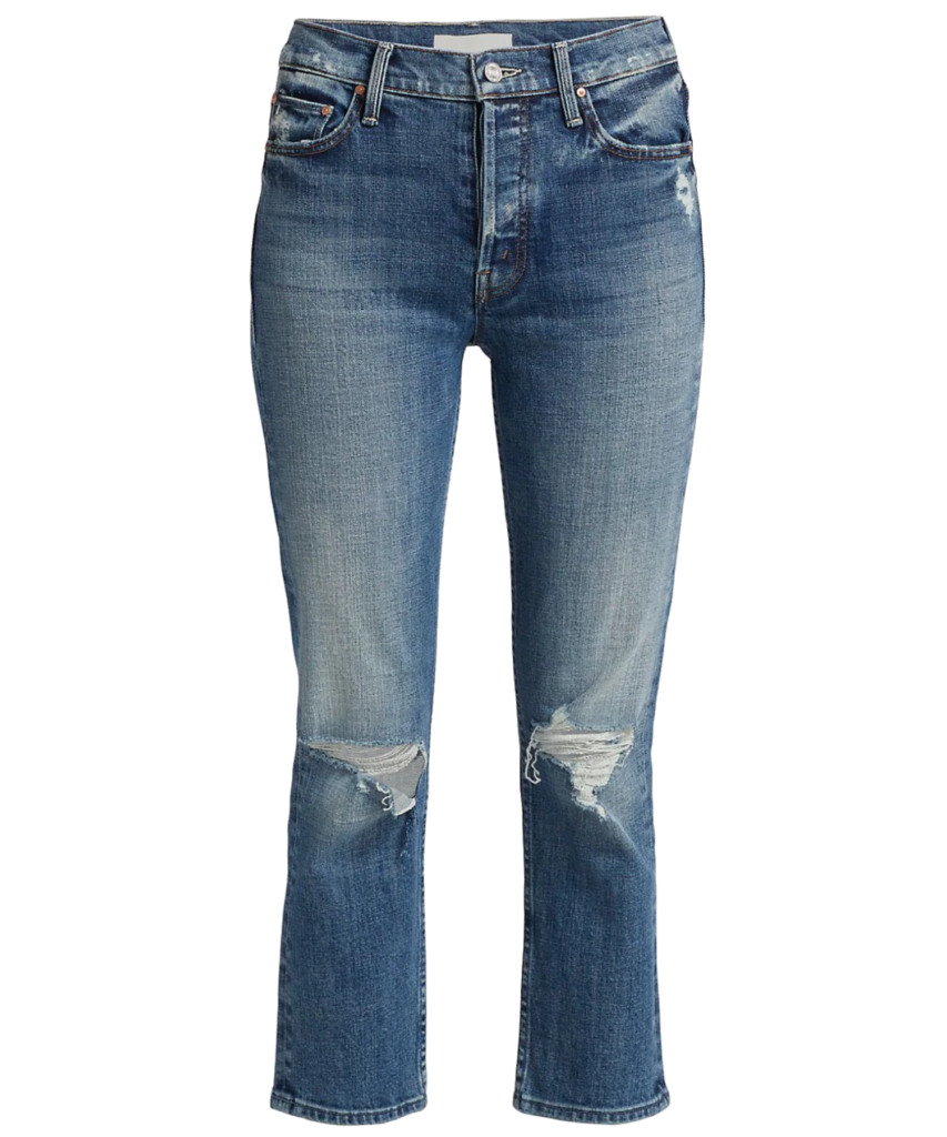 the tomcat distressed straight leg jean seriously truce mother denim