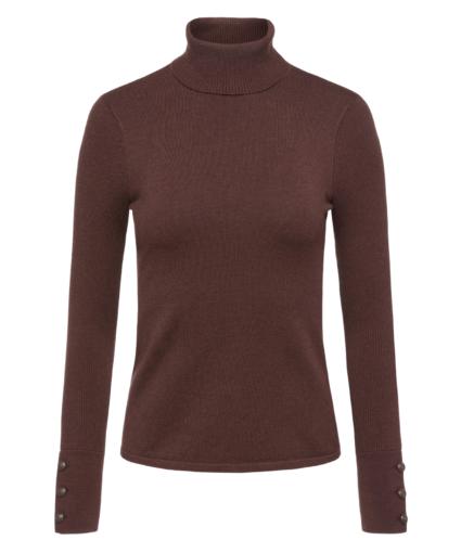 odette turtleneck sweater chocolate l'agence