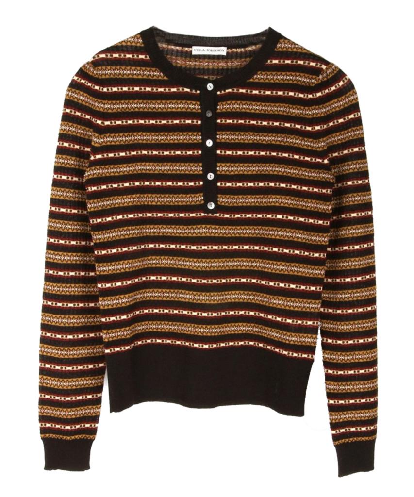 robin henley sweater knit obsidian brown ulla johnson