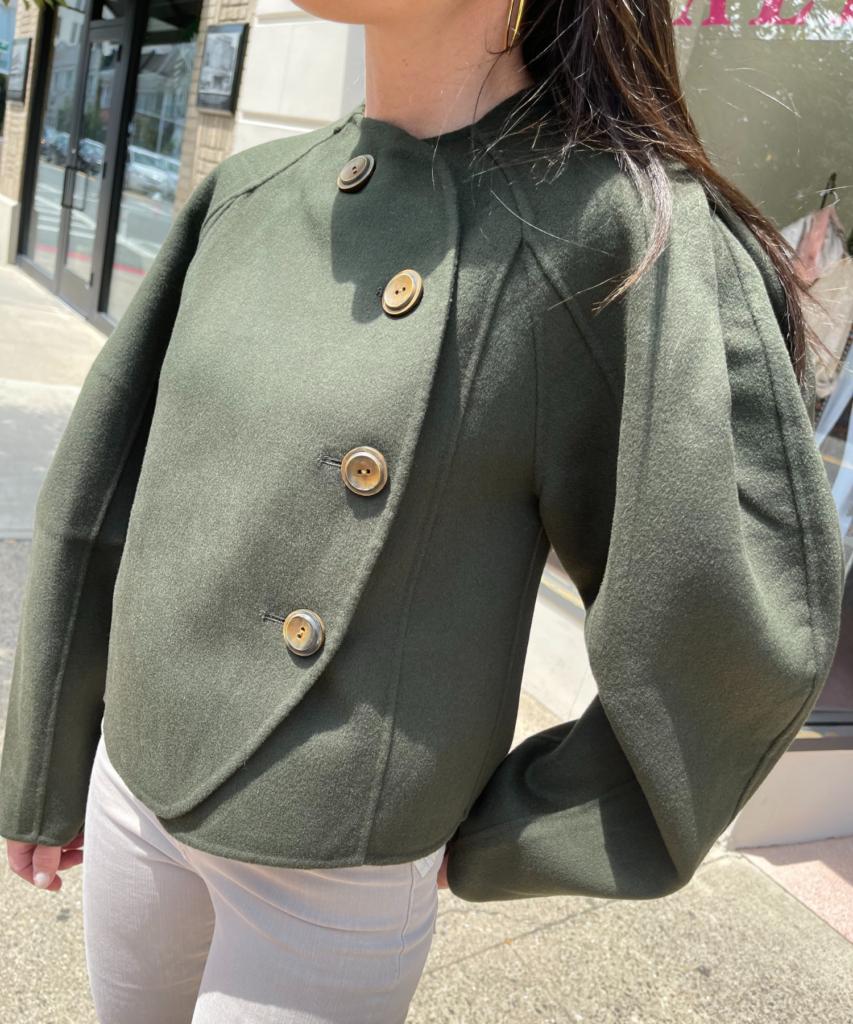 thea jacket pine green ulla johnson