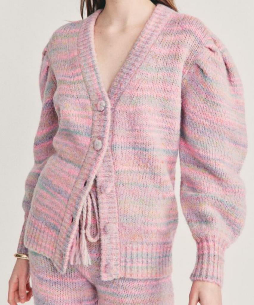 wilford boyfriend cardigan pink cloud loveshackfancy