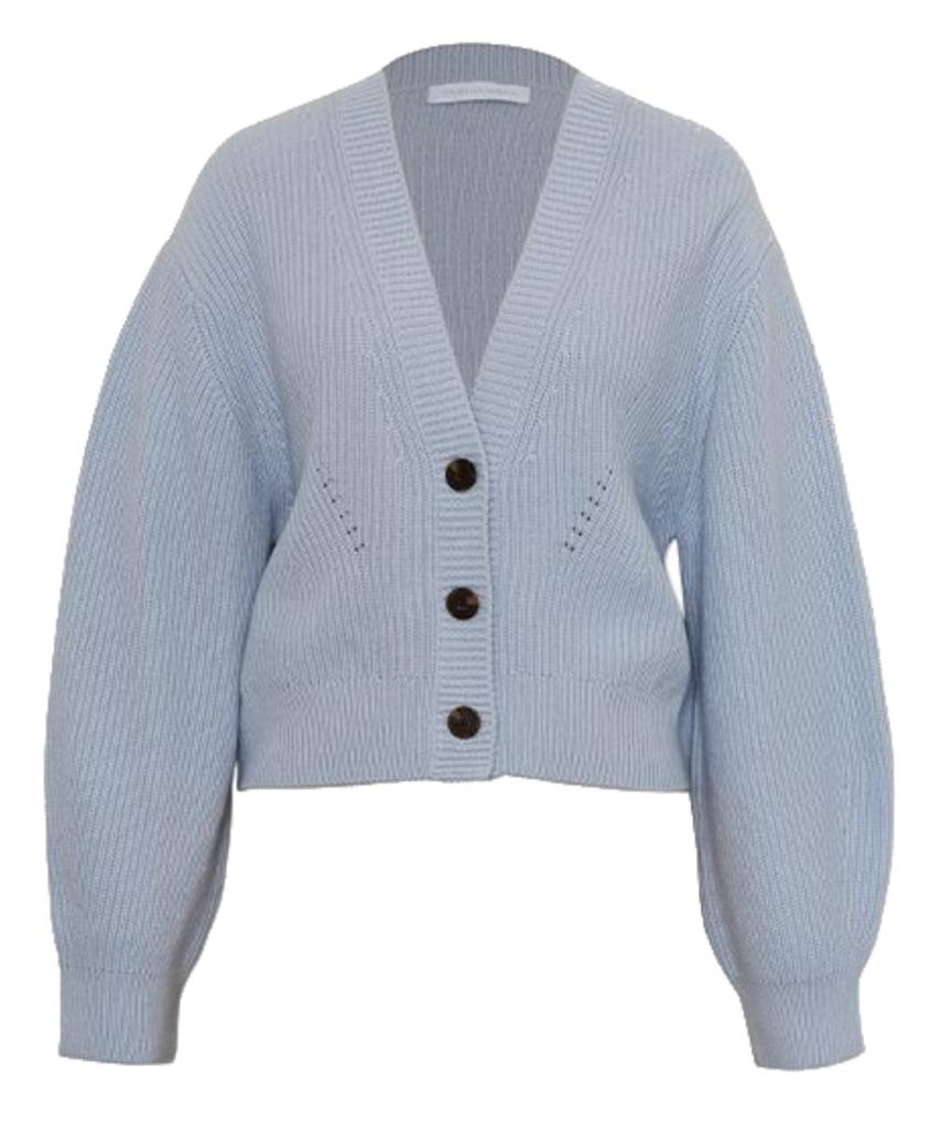clarice ribbed loungewear knits cardigan mist light blue jonathan simkhai