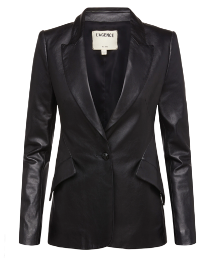chamberlain blazer black leather l'agence