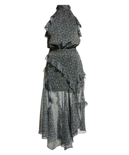 kailey dress crinkle floral black multi veronica beard