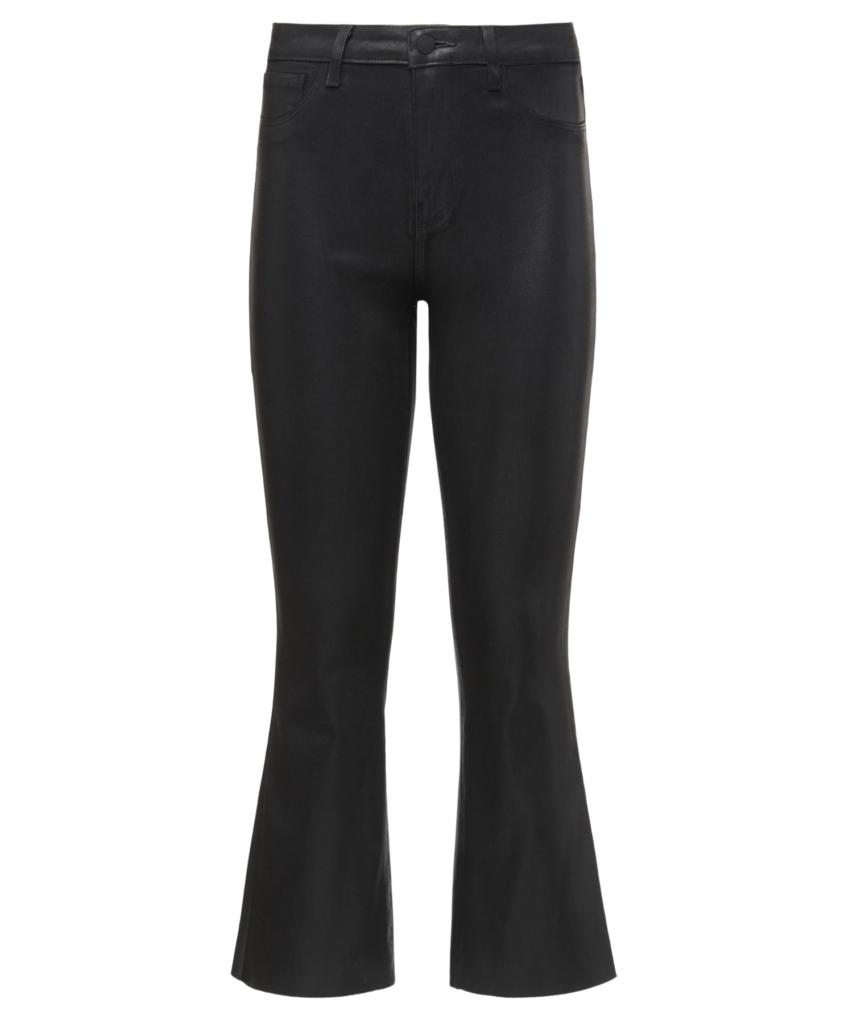 kendra crop flare jean noir coated l'agence