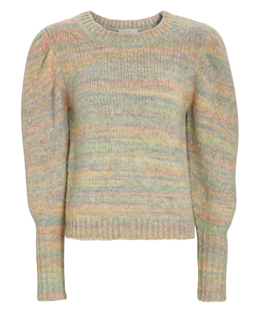 aquarius puff sleeve sweater autumn rainbow loveshackfancy