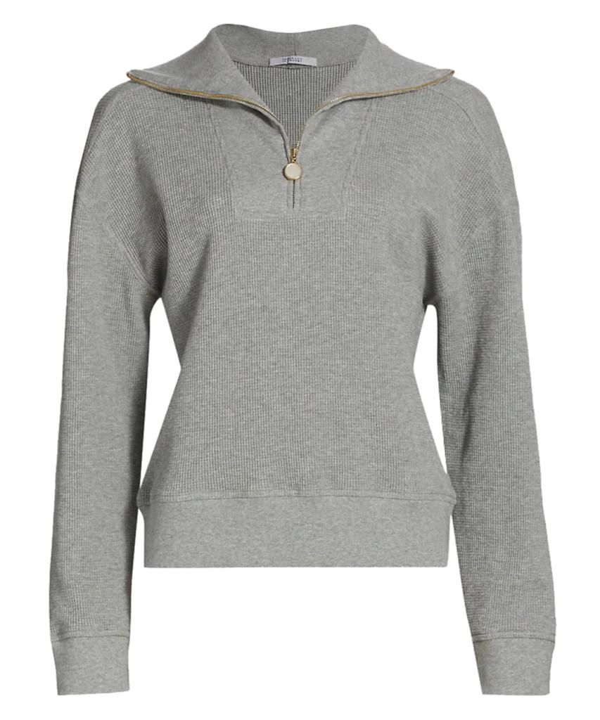 ariah half zip mock neck sweatshirt grey melange derek lam 10 crosby