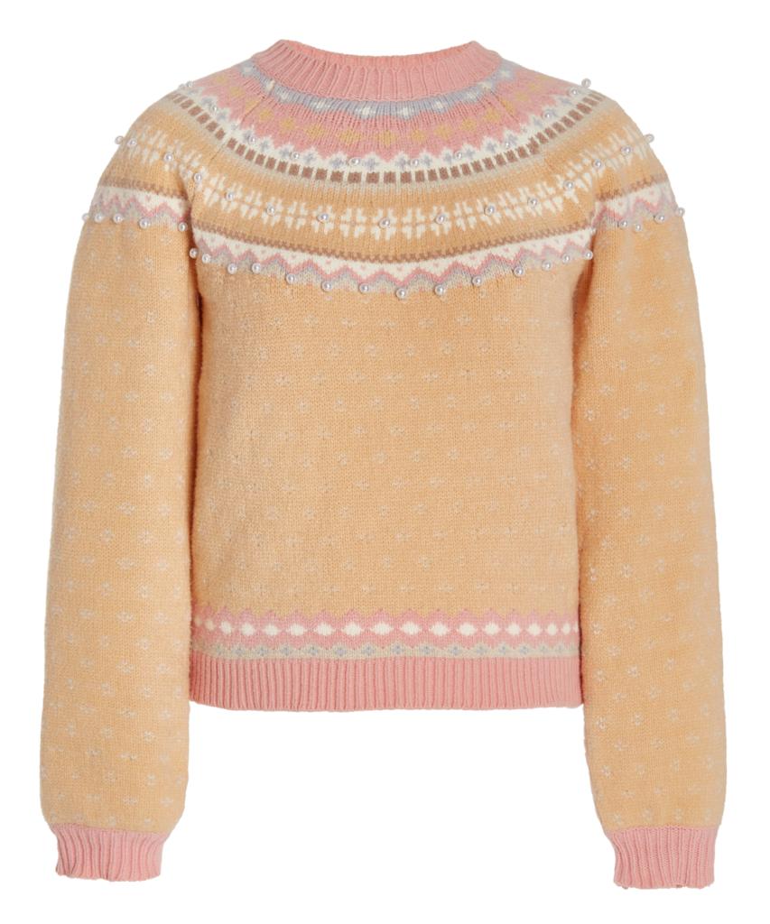 crawley pullover fairisle pearl sweater birch grove loveshackfancy