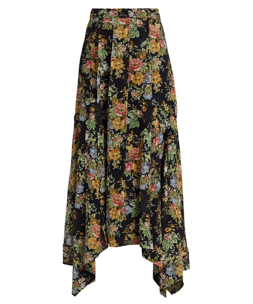 celia pleated skirt black multi derek lam 10 crosby