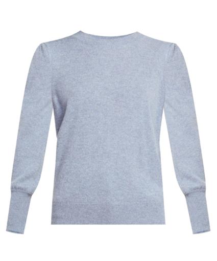 nelia cashmere sweater light blue veronica beard
