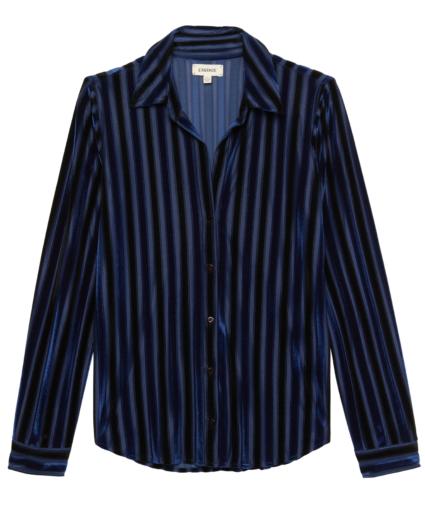 laurent blouse dark navy black stripes l'agence